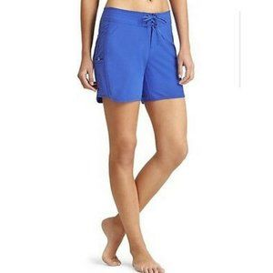 Athleta Surfboard Short Caspian Shorts Blue Sz 14